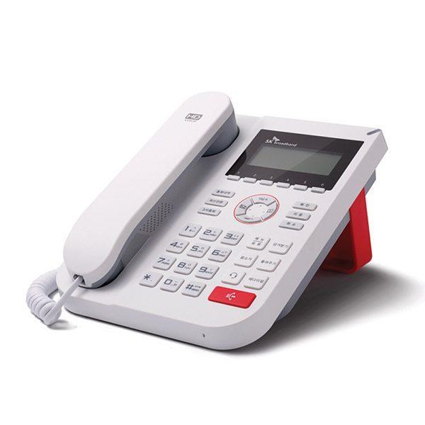 세련된 디자인의 사무용 인터넷 전화기